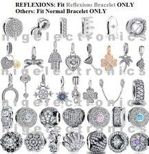 Authentic 925 Sterling Silver Sparkle Charms fit Euro/ Reflexions Charm Bracelet
