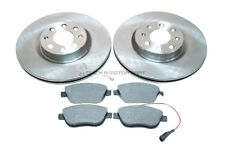 FIAT GRANDE PUNTO 1.4 T 2007 TO 2010 FRONT 2 BRAKE DISCS AND PADS SET CHECK SIZE