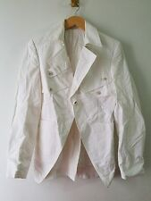 LES HOMMES SINGLE BUTTON FRONT JACKET WHITE SIZE 44 SMALL