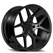 "20"" Staggered Giovanna Wheels Haleb Black Rims"