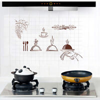 HK- Durable Anti-oil Heat Resistant Kitchen Hood Cabinet Wall Sticker Tile Decal
