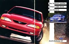 1995 FORD MUSTANG GT  ~  CLASSIC 2-PAGE PRINT AD