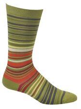Ozone UPC Stripe Men's Socks Cotton Casual Black Green Charcoal O/S New