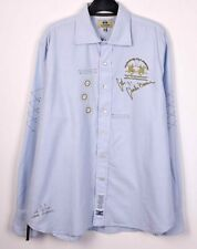 LA MARTINA Men's 2XL Shirt Formal Cotton Casual Long Sleeved Blue Work Office