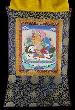 Thangka tibetaine Jambhala Kubera tenture Bouddhiste Tibet 77x54cm  25727