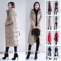 Women Winter Down Coat Thick Long Jacket Parka Hooded Warm Outwear Overcoat Plus