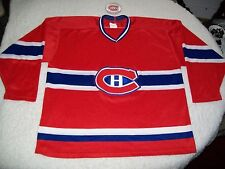 VINTAGE MONTREAL CANADIANS CANADIENS HOCKEY JERSEY KNIT CCM EXTRA LARGE 52 NICE