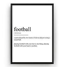 Football Definition Print - Poster Wall Art Decor Room Gift - Unframed
