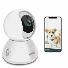 Peteme Pet Dog Camera,Baby Monitor, 2.4GHz WiFi 1080P Security Camera