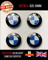 SET OF 4 BMW ALLOY WHEEL CENTRE CAPS 68MM 1 3 5 6 7 Series