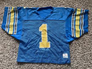 Vintage 80s Colorado Buffaloes CU Buffs Crop Champion Blue Football Jersey NWOT