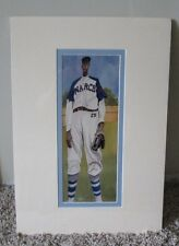 RARE NEGRO LEAGUE NUMBERED PRINT OF SATCHEL PAIGE SIGNED BY ARTIST MATTED