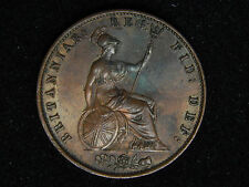1856 Great Britain 1/2 Penny - Double Die Obverse Error Au/Unc