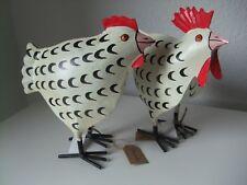 Huhn Hahn Henne Hühner Paar I weiß