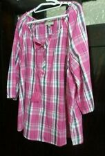 Autograph Checked Tops & Blouses for Women