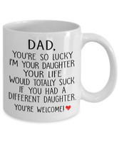 Funny Dad Joke From Daughter Father's Day Coffee Mug Thank You Daddy Gifts Cup