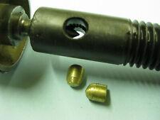 Locking Brass Bullets for your Vintage Delta Jointer Elevation Adjustment Shafts