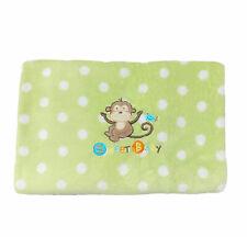 Garanimals Monkey Sweet Baby Green White Polka Dots Plush Baby Blanket Throw