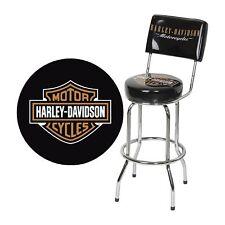Harley-Davidson Bar Stool with Backrest - Black