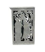 Vintage Old Pawn Sterling Silver Aztec Design Cigarette Case