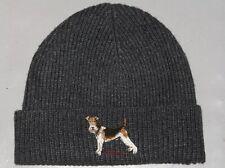 POLO RALPH LAUREN Men's Wirefox Terrier Dog Beanie Hat, Skull Ski Watch Cap GRAY