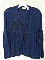 SALE @ Nearly New CHICO'S TRAVELERS Wispy Paisley Wrap Jacket Womens Sz 3 XL