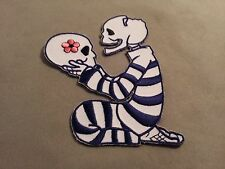 skeleton love embroidered patch