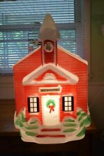 Empire vintage blow mold lighted large yard decoration school house Christmas