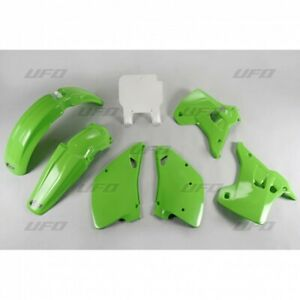 Set Plástico Carenado UFO Plast Kawasaki KX 125/250 1992 Verde Ka KIT195 999