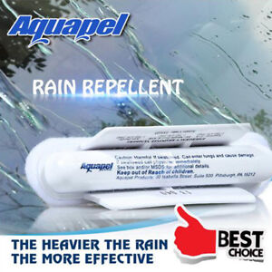 6 Pcs AQUAPEL Applicator Windshield Glass Treatment Water Rain Repellent Repels