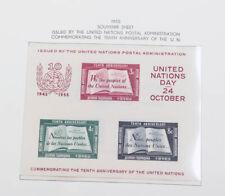 UNO postfrische Sammlung in 2 Alben, New York mit Block 1 etc.