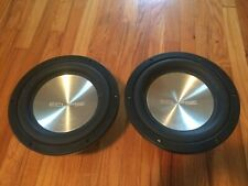 """Rare Old School Eclipse Aluminum Subwoofers 10"""" Car Audio 88100 DVC 1000W Max"""