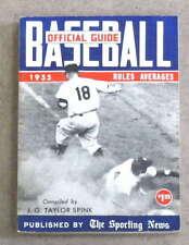 THE SPORTING NEWS TSN MLB BASEBALL GUIDE - 1955 - EX+/NM SHAPE