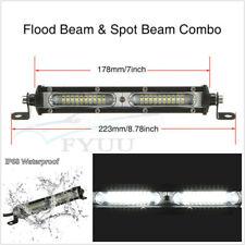 7'' 90W Slim Car SUV LED Spot Flood Combo Beam Spotlight Working Lamp Waterproof