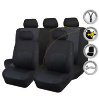 Universal Car Seat Covers Protectors Washable Breathable Black Toyota SUV Truck