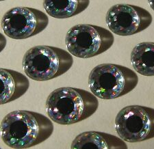 """4mm SILVER ADHESIVE EYES FOR FLY TYING 48 JIG // LURE MAKING 5//32/"""" CRAFTS"""