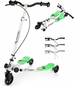 WOOKRAYS Swing Scooter 3Wheel Wiggle Scooter Adjustable Tri Slider Foldable-BLUE