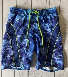 Buzz Lightyear Toy Story Boys Bathing Suit Size 4 Swimsuit Blue Green