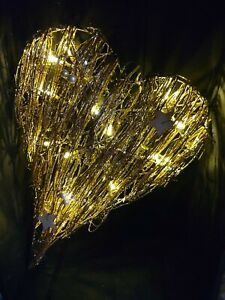 LED  Large hanging heart decoration with Lights  battery operated new