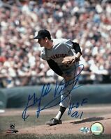 "Gaylord Perry Signed 8X10 Photo ""HOF 91"" Autograph Giants Leg in Air Auto w/COA"