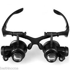 9892GJ 10X 15X 20X 25X LED Eye Jeweler Watch Repair Magnifying LED Light Glass