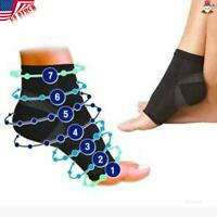 ✅Pair PLANTAR FASCIITIS Foot Pain Compression Ankle Sock Angel Anti Fatigue US