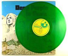 "12"" LP-DEEP PURPLE-in Rock-d806-RAR-Green Trasparente In Vinile-cleaned"
