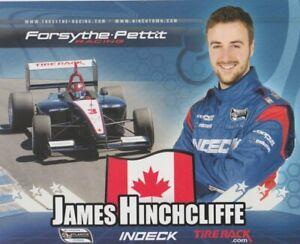 2008 James Hinchcliffe Indeck Mazda Atlantic Hero Card