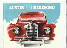 AUSTIN  A70 HEREFORD SALOON SALES BROCHURE EARLY 50s