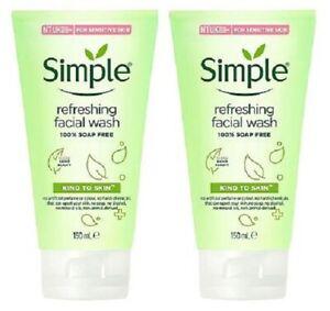 2 x Simple Kind to Skin Refreshing Facial Wash Gel (2 x 150ml)