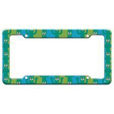 Gumby Fun Blue Green Polka Dots Pattern License Plate Tag Frame