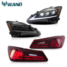 VLAND LED Headlights & Tail Lights Fits For LEXUS IS250 350 ISF 2006-2012