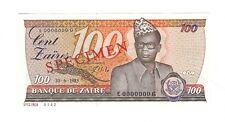 Zaire - One Hundred (100) Cents, 1985 Specimen