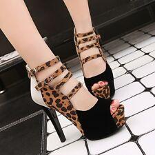 Women's High Heels Platform Buckle Strap Prom Shoes Sexy Open-toe Roman Sandals